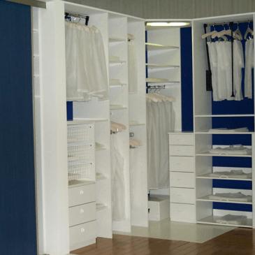 4 primeri izdelave garderobnih sob po naročilu