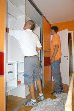 montaža vgradnih omar