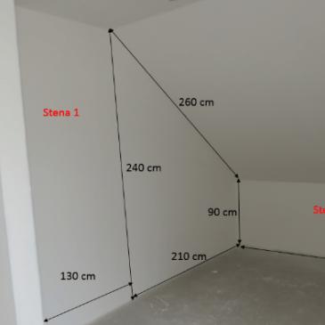 Kako izmeriti prostor za garderobno sobo v mansardi
