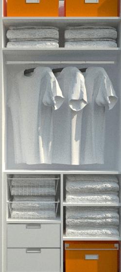 vgradna garderobna omara izvlečni predali