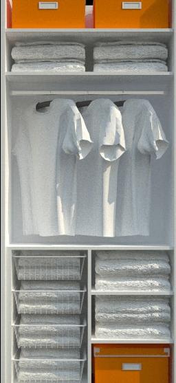 vgradne garderobne omare razporeditev v omari