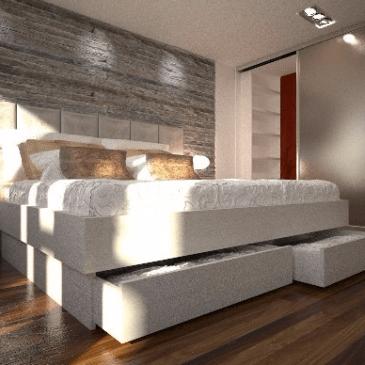 Primer ureditve razstavnega salona za spalnice