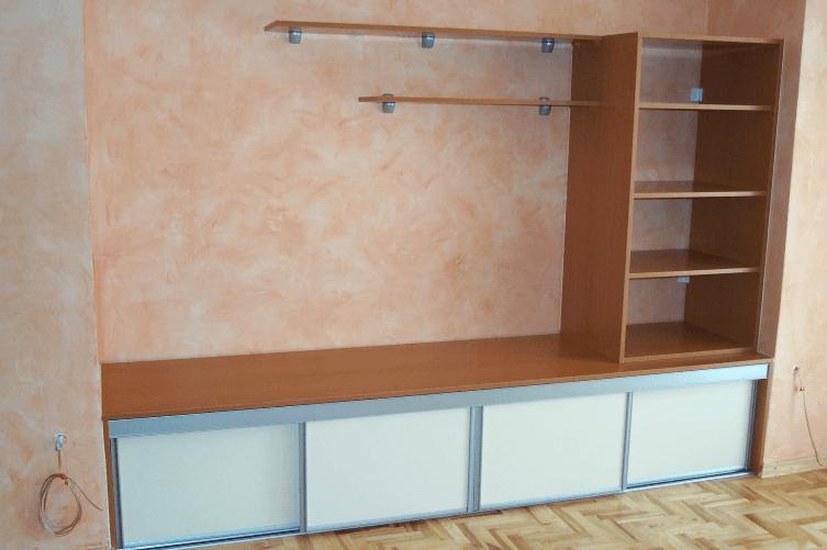 vgradni regal za dnevno sobo