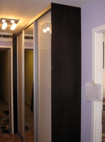 vgradna omara z ogledalom hodnik