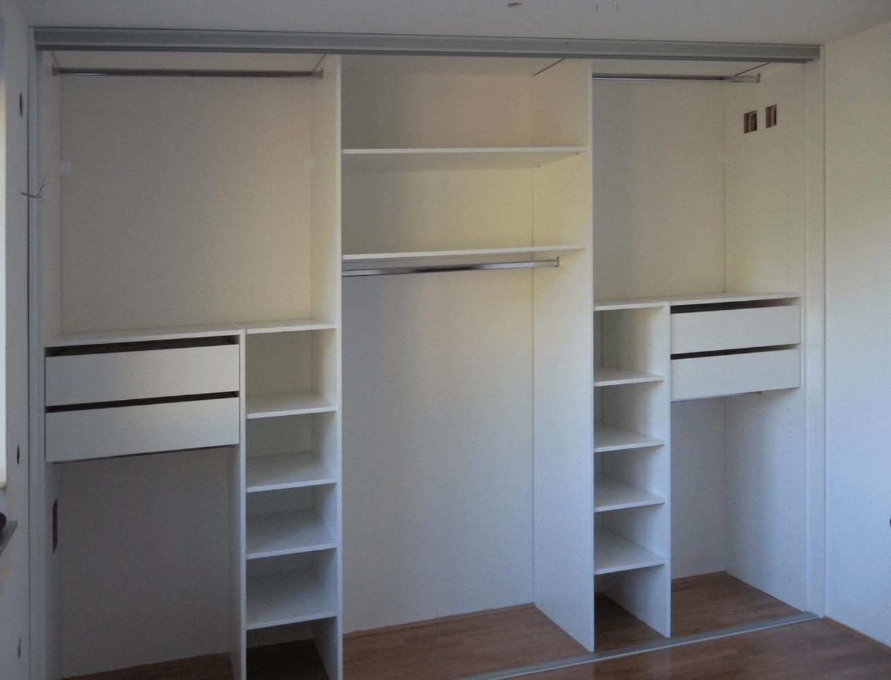 izdelava notranjost vgradne omare za spalnico