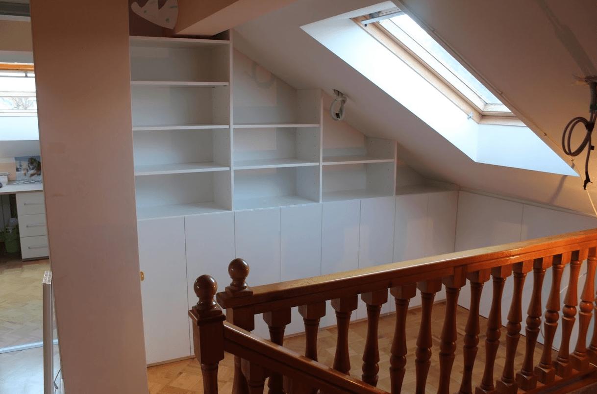 vgradne omare za mansardo