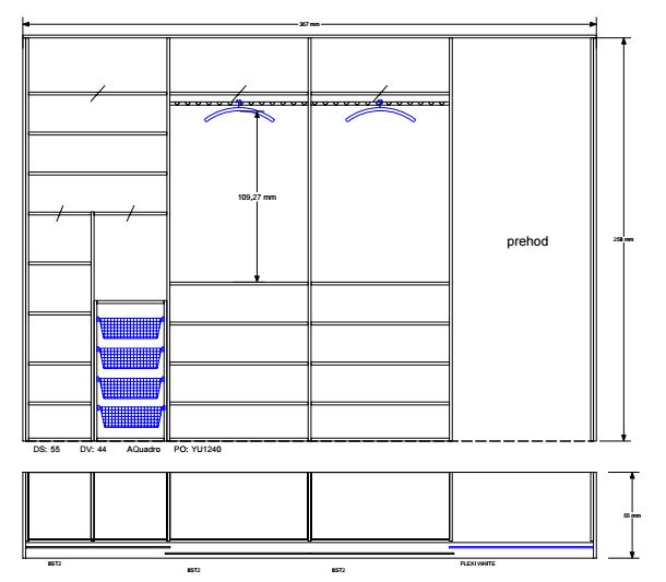 vgradna omara spalnica